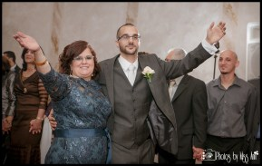 Groom Dabke Dance with his Parents Lebanese Wedding Reception Photos Central Park West Wedding