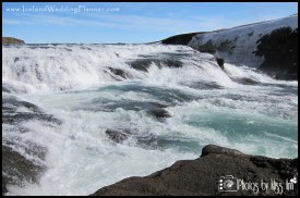 Top of Gullfoss Waterfall Iceland Wedding Location