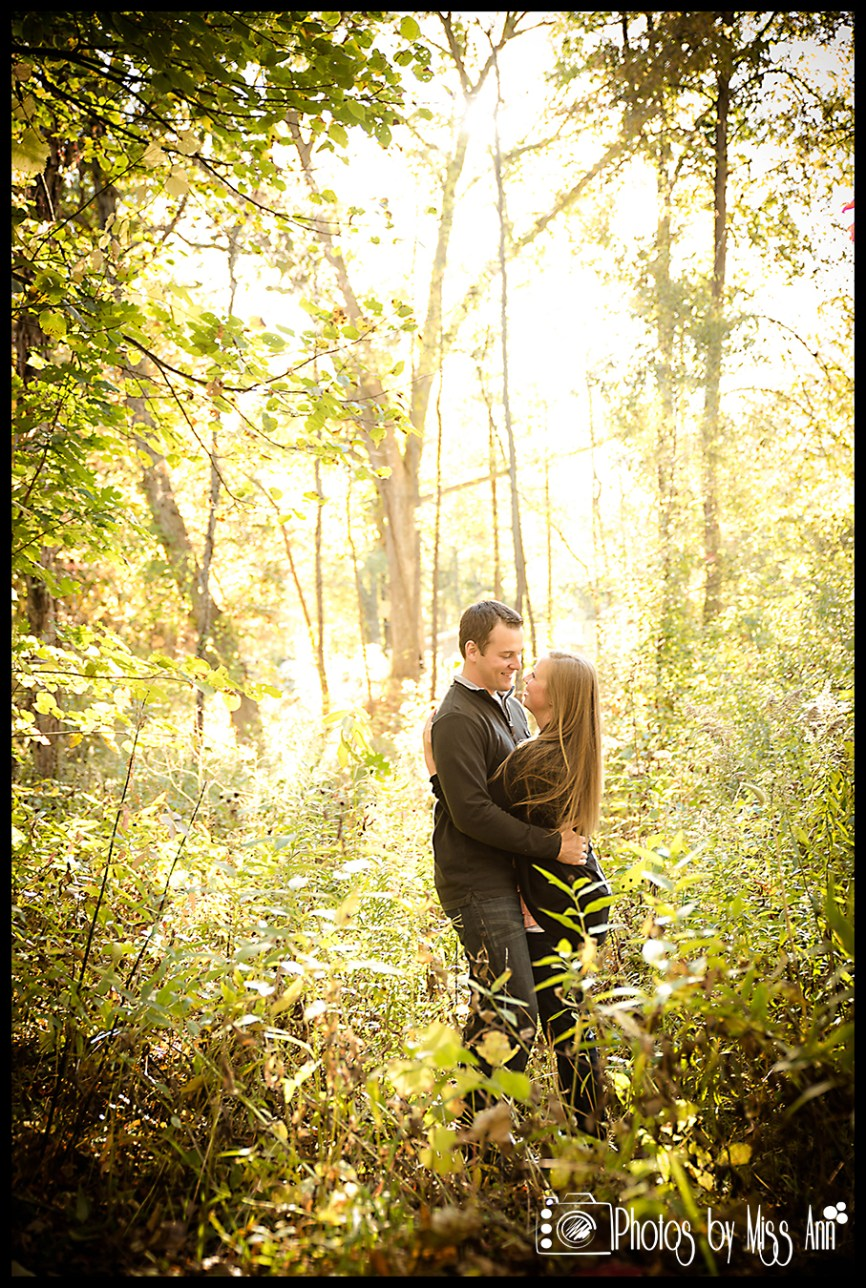 Woodsy Engagement Session Plymouth Michigan Photos by Miss Ann