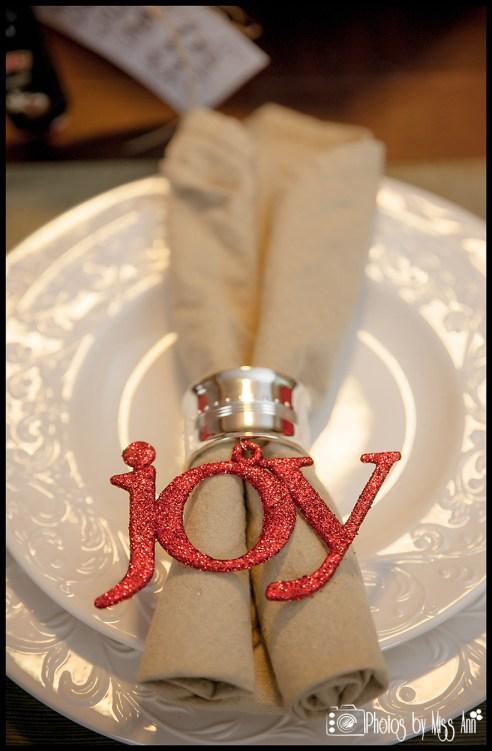 Iceland Winter Wedding Reception Place Setting Napkin Fold Idea