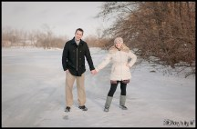 Engagement Session on a Frozen Lake Ann Arbor Michigan Photographer Photos by Miss Ann