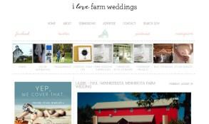 I Love Farm Weddings Feature Photos by Miss Ann