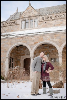 Pretty Engagement Photos at the U of M Law Quad