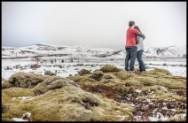Iceland Engagement Session at the ION Lava Fields