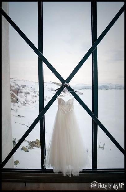 Iceland Destination Wedding Dress ION Nothern Lights Bar