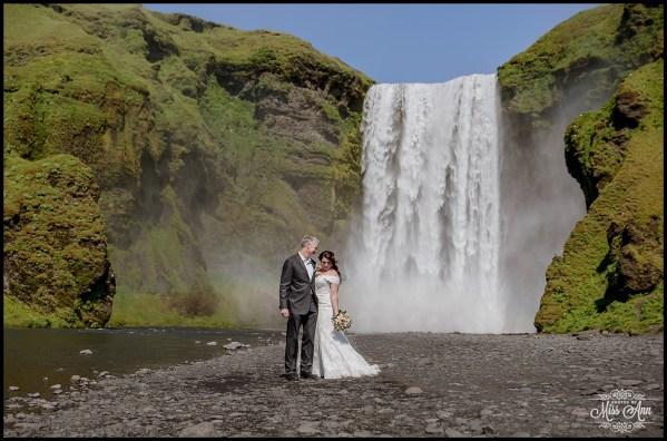 Iceland Wedding at Skogafoss Waterfall