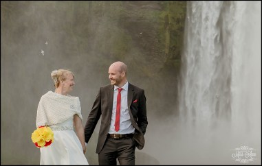 Iceland Wedding Skogafoss Waterfall