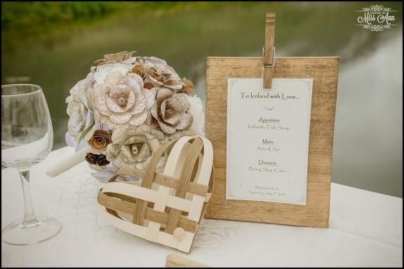 Hotel Brimnes Northern Iceland Wedding Reception Menu