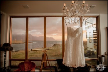 Iceland Wedding Reception Dress