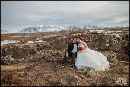 Thingvellir National Park Wedding Winter Iceland
