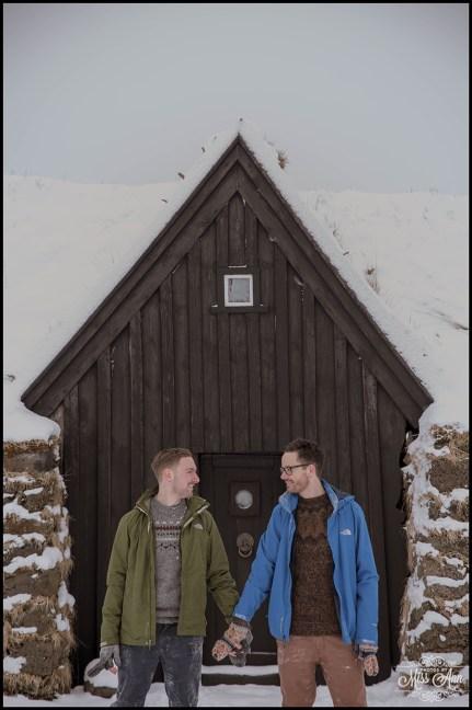 Iceland Engagement Session Keldur Sod Farm
