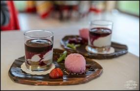Iceland Skyr Cake with Rassberry Sorbet Hotel Ranga