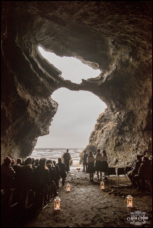 Iceland Wedding in a Cave Photos by Miss Ann