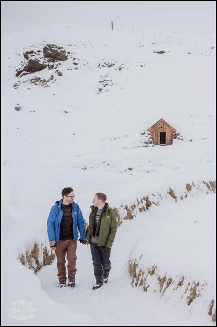 Romantic Iceland Winter Engagement Session
