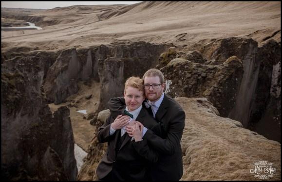 Iceland Wedding Same Sex Fjadrargljufur Canyon