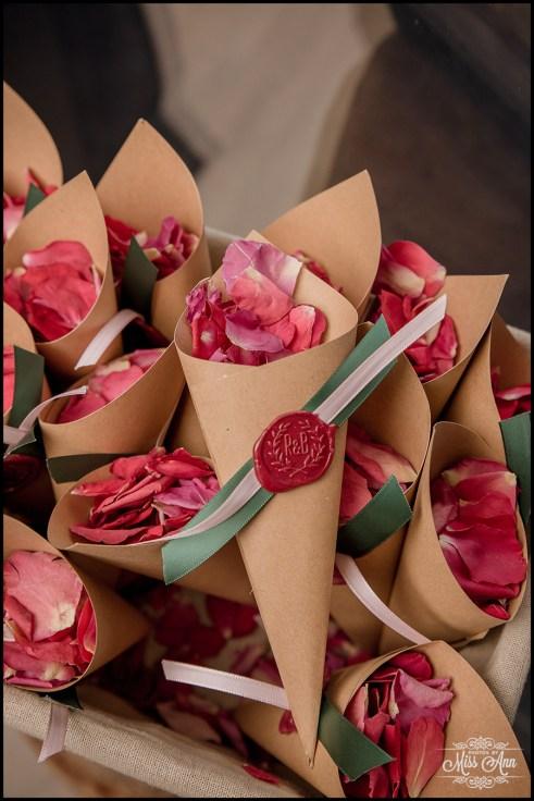 Rose Petal Toss Iceland Wedding