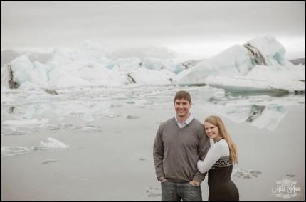 Iceland Post Wedding Session Jökulsárlón Glacier Lagoon