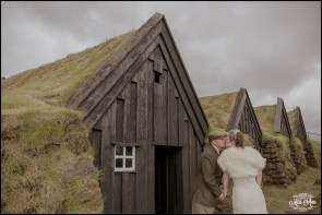 Iceland Wedding Grass Covered Houses