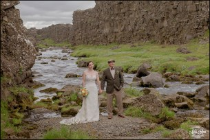 Iceland Wedding Oxarafoss Waterfall-4