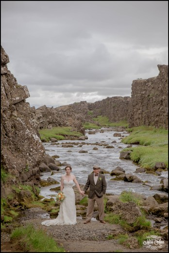 Iceland Wedding Oxarafoss Waterfall