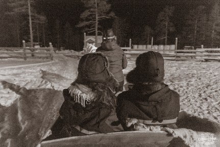 Winter Wedding Sleigh Ride Finnish Lapland