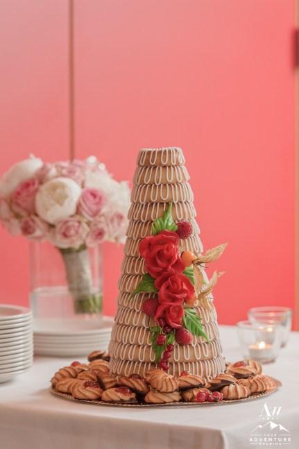 Iceland Wedding Reception Cake