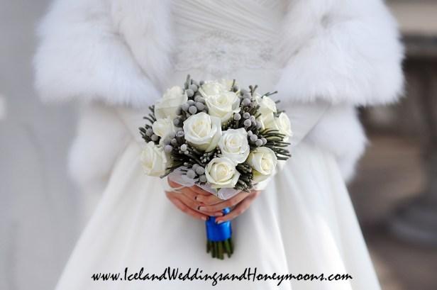 Iceland Weddings and Honeymoons Winter Wedding Bouquet