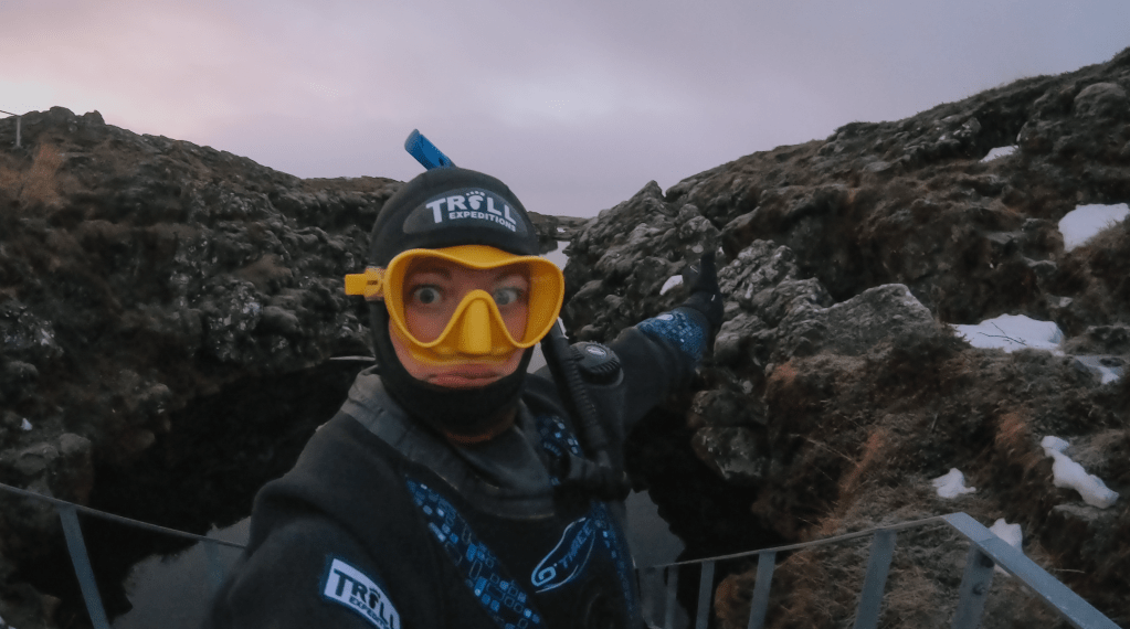 Conquering my fear – snorkeling Silfra