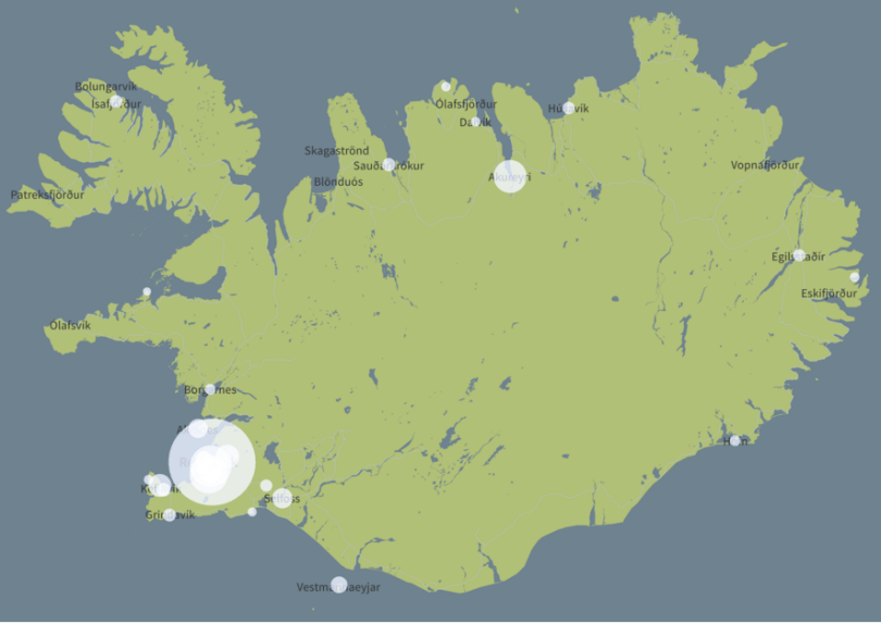 iceland bubble population