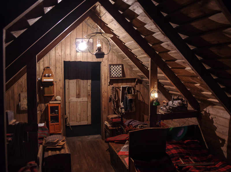 childrens cottage past dark hallway