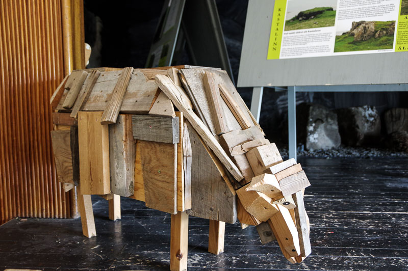 sheem museum wooden sheep