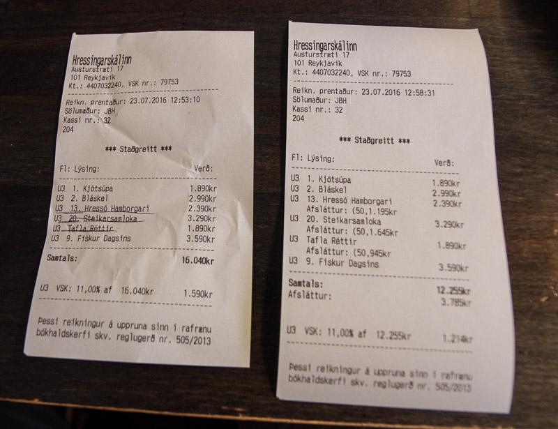 Hressó Hressingarskálinn receipt