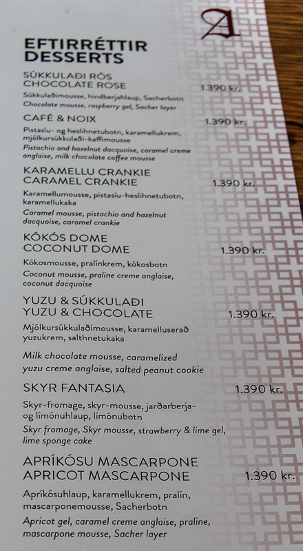 Cost Of Restaurant Food In Iceland
