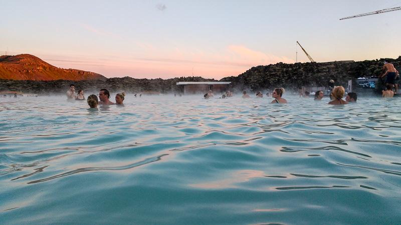 blue lagoon in water