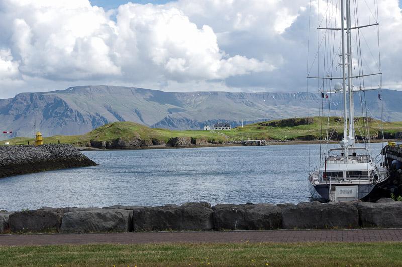 videy island from reykjavik