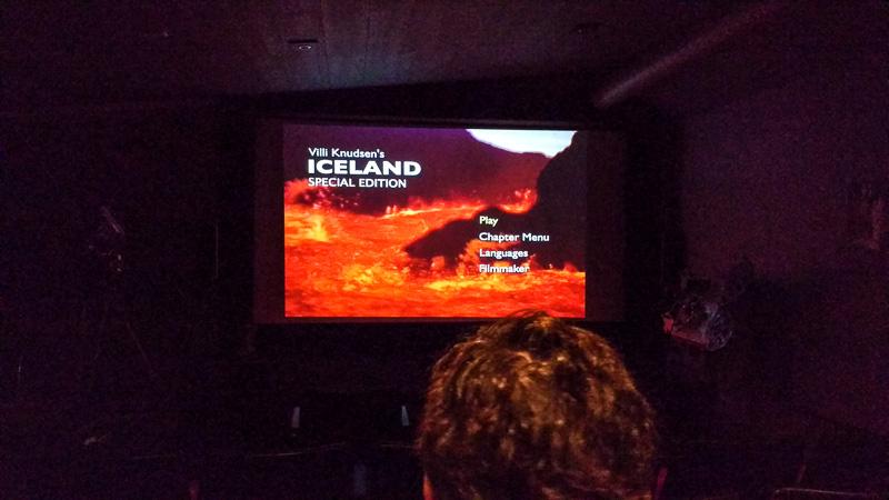 volcano show movie screen