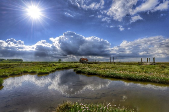 'Thornham Quay and the old coal barn' by Gary Pearson on Norfolk Coast Path: