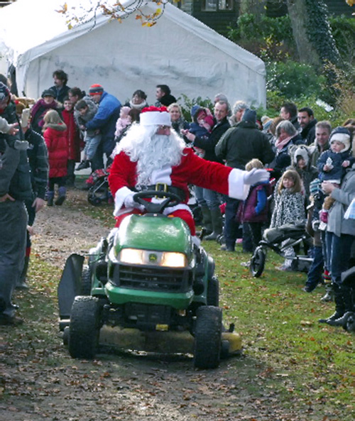 father-christmas-arriving Magical Woodland