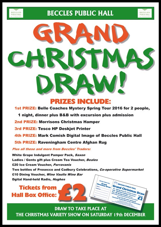 Beccles Public Hall Grand Christmas Draw