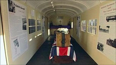 Edith Cavell railway carriage