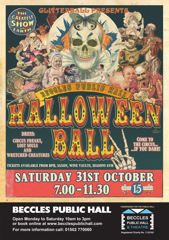 Beccles Public Hall Halloween Ball 31st Oct 2015
