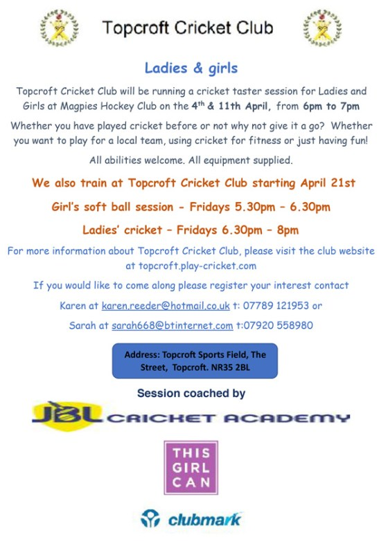 TASTER CRICKET SESSIONS