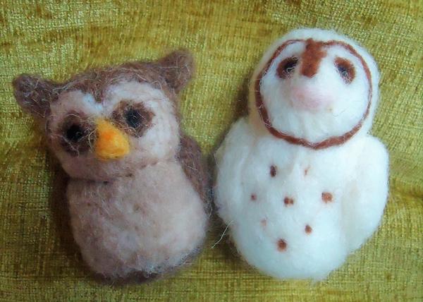 Needle Felting Owl workshop