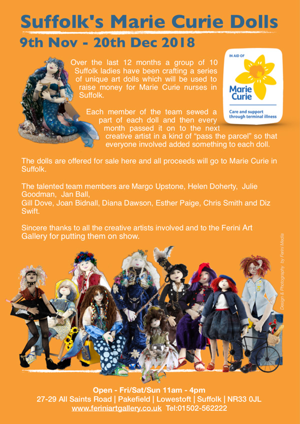 Ferini Art Gallery Exhibitions Marie Curie Dolls