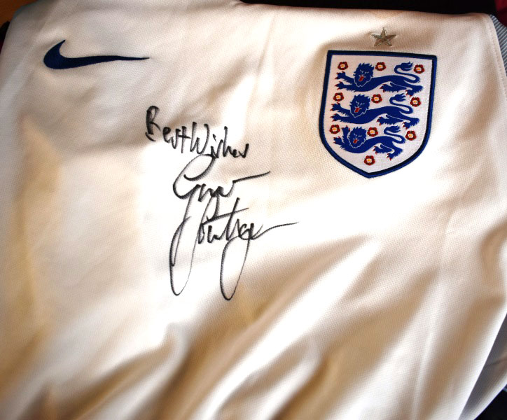 Gareth Southgate England footballers shirt