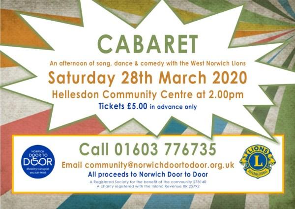 Norwich Door to Door: Charity Cabaret