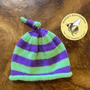 Meadow Mischief Handmade Knitted Baby Hat from Mopsie's Knitterbees