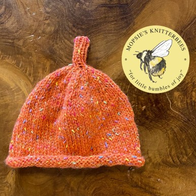 Snuggly Spice Handmade Knitted Baby Hat from Mopsie's Knitterbees