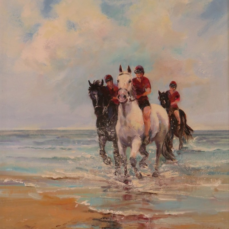 Cavalry Holiday by Juliet Hodgson - Norfolk and Norwich Art Circle