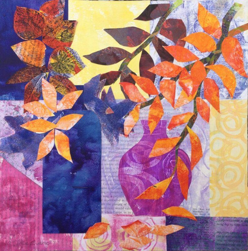 Jugs & Autumn Leaves by Dee Evans